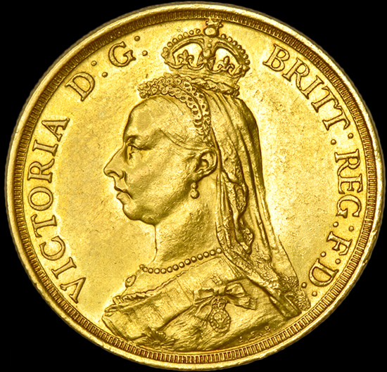 QUEEN VICTORIA TWO POUND GOLD SOVEREIGN image
