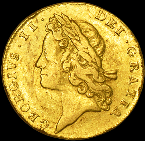 KING GEORGE THE II GOLD GUINEA image