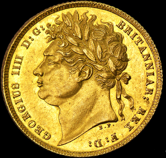 KING GEORGE THE IIII GOLD SOVEREIGN image